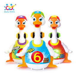 Wholesale Read Learn - HUILE TOYS 828 Baby Toys Electric Hip Pop Dance Read & Tell Story & Interactive Swing Goose Kids Learning Educational Toys Gifts