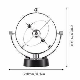 Pendolo oscillante online-Altalena magnetica Kinetic Orbital Craft Scrivania Decorazione Perpetual Balance Celestial Globe Newton Pendulum Home Ornaments