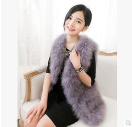 Wholesale Fur Coat Sales - Wholesale-Hot Sale New 2017 Women Winter encryption 100% natural ostrich feathers turkey feather fur vest vest fur coat Fashion Waistcoat
