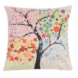 Deutschland Gedruckt Cattoon Trees Blumen Kissen Leinen Kissenbezug 45 * 45 cm Startseite Dekorative Kissenbezug Versorgung