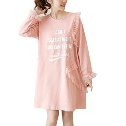 Pregnant Women Casual Cotton Dress for Pregnancy Plus Size Loose Autumn  Print Fashion Clothes Maternity Mesh Splicing Dresses 156de5b689f9