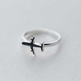 anéis planos de prata Desconto Toda sale1pc das Mulheres dos homens do Avião Avião Aviões Anéis Cor Prata avião Para As Mulheres Anel de Noivado Ajustável Encantos Menina AC567