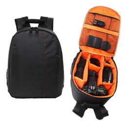 Sac à dos pour lentille en Ligne-Appareil photo étanche DSLR Lens Backpack Case sac diviseurs rembourrés réglables pour la caméra
