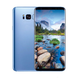 Wholesale chinese curve - Real 6.2inch Curved Goophone S8+ S8 Plus 1G 4GB MTK6580 Quad core Show Octa Core Show 4G 128GB 4G Lte Smartphon