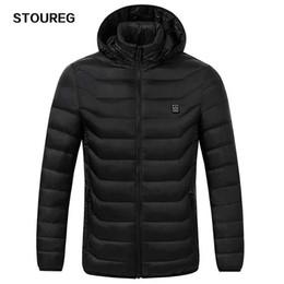 2019 черный цвет Мужские флисовые куртки Водонепроницаемые зимние куртки с подогревом Тепловое отопление Одежда Лыжное пальто Мужская туристическая куртка S-3XL 2 цвета