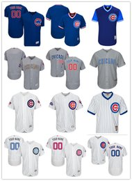 Wholesale Army Kid - custom Men's women youth Majestic Cubs Jersey #00 Any Your name and your number Home Blue Kids Girls Throwback Champions Baseball Jerseys