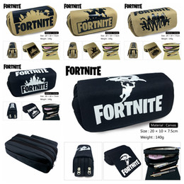 Wholesale other storage - 5 Styles Fortnite Pencil Pen Bag wallet Cartoon Pencil Case Students Stationery Storage Bag School Office Kids Gift Party Favor AAA73