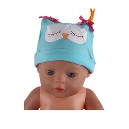 Wholesale Best Fashion Wear - New Fashion Blue Owl Hat Wear fit 43cm Baby Born zapf, Children best Birthday Gift N448