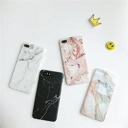 Wholesale Paint For Stone - Luxury Marble Stone Cases For iPhone 7 6 6S Plus Painted Soft Silicone Cover Back For iPhone X 6 6S 8 Plus