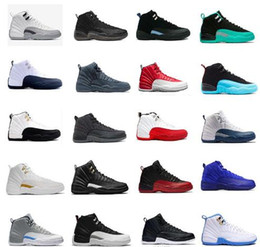 Wholesale Sport Ankle Boots For Women - Basketball Shoes On Sale For Men Air retro 12 Mens sports sneaker ovo white flu game GS Barons taxi the master wolf grey ankle support