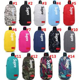 sacchetti da viaggio Sconti Supme Shoulder Bags Travel Duffel Bags Borsa da scuola per adolescenti Pacchetto petto per adulti 14 colori