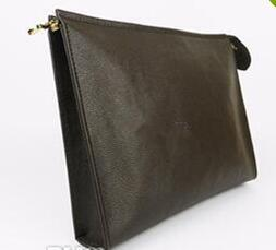 Wholesale dust protection - New Travel Toiletry Pouch 26 cm Protection Makeup Clutch Women Genuine Leather Waterproof Cosmetic Bags For Women + Dust Bag