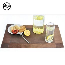 Wholesale Catering Utensils - PVC Placemats Dining Tables Place Mats waterproof Pad Tableware Utensil Restaurant Catering Accessories Supplies