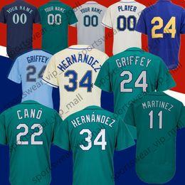 72d7c98ea Men Nelson Cruz Ken Robinson Cano Felix Hernandez Edgar Martinez  IchiroSuzuki Northwest Green Griffey Jr white Stitched Baseball Jerseys