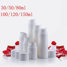 Wholesale vacuum pump container - Empty White airless cosmetic Pump bottle container , airless vacuum pump cosmetic travel bottle for cosmetic skin care cream