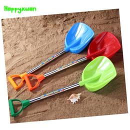 2019 pala de plástico de playa Al por mayor-Happyxuan 1 pieza 61cm Niños de plástico Beach Shovel Toy Sand Play Herramientas Niños diversión al aire libre pala de plástico de playa baratos