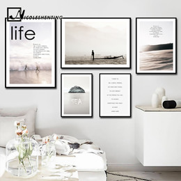 Wholesale canvas motivational quotes - Nordic Style Motivational Posters and Prints Life Quote Wall Art Canvas Painting Wall Picture for Living Room Modern Home Decor