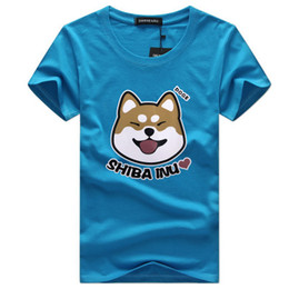 Wholesale Puppy Orange - Wholesales Summer Men T shirt Funny Smile Puppy Printed T shirts Men Tee Big Size 9 Color