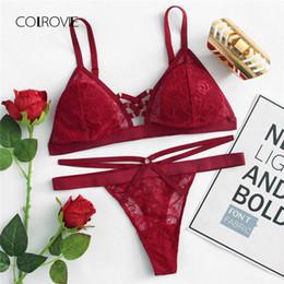 8793930aa3c26 Promotion Ensembles De Culotte De Soutien-gorge Rouge Sexy   Vente ...