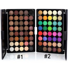 Diferentes fábricas online-Maquillaje directo de fábrica Popfeel 40 colores nude mate impermeable sombra de ojos paleta 2 colores diferentes envío libre de DHL