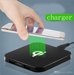 Wholesale Qi Charger S4 - QI standard wireless charger Apple 5s 6plus Samsung S4 S6 Nokia Q8 wireless charger