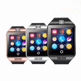 2019 sms sync bluetooth Bluetooth Smart Uhr Q18 mit Kamera Facebook WhatsApp Twitter Sync SMS Smartwatch Unterstützung SIM TF Karte für iOS Android