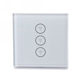 Wholesale Wireless Remote Wall Light Switch - Smart Wifi Light Switch Wireless Wall Touch Switch Home Remote Control C103 Timer Set Work with Google Home Alexa