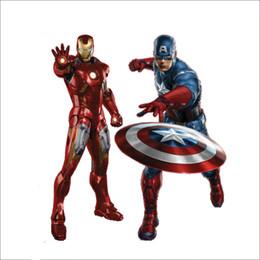 Adesivi murali Avengers Iron Man Capitano Murale Carta da parati Camera dei bambini Decorazione della parete Decalcomanie smontabili della parete da