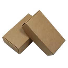 Canada 30 Pcs / lot 15 tailles Brown Kraft Boîte D'emballage En Papier Craft Bijoux Main Cadeau Emballage Boîte En Carton Bonbons Snack Carton cheap snack packs Offre