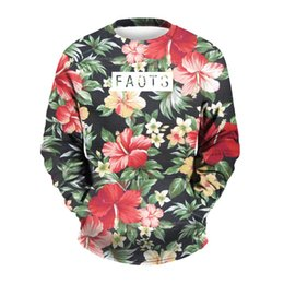 Wholesale beautiful scenery - Wholesale free shipping fashion hoodies beautiful scenery   flower printing 3d sweatshirt unisex pullovers sportwear plus size 3XL