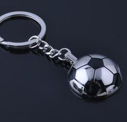 Wholesale Wholesale Metal Trinket - Metal Sports Soccer Trinket Keychain Keyrings Alloy Key Chain Car Key Ring Funny Gifts Sports SOCCER Keychain KKA4019