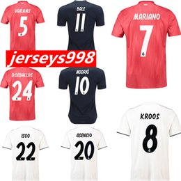 18 19 Real Madrid Home Away Soccer Jerseys Thailand Jerseys RONALD0 MODRIC  BALE KROOS ISCO BENZEMA 3rd Football Shirts Mariano New Jerseys real madrid  ... fd8f19252
