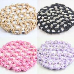 2019 extensions multi-couleurs Pur Main Crochet Cheveux Filet Femmes Delicate Cap Mesh Marque Lady Filet À Cheveux Élastique Accessoires De Cheveux 1 75yd Ww