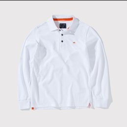 brand polo jacket Promo Codes - Polo shirt men's explosion jacket autumn and winter brand men's Polo shirt long sleeve casual fashion shirt a variety of styles optional