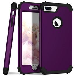 Pour iPhone 8 7 Plus cas de téléphone, PC dur + Silicone souple 3 couches hybrides Full-Body Protect Coques de téléphone populaires pour iPhone8 couvertures ? partir de fabricateur