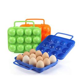 Caixa da caixa do ovo on-line-12 pcs Caixa De Armazenamento De Ovo Portátil Carry Titular Recipiente De Plástico Caso Cesta Dobrável Ao Ar Livre 6 pcs Viagem Picnic Ovo Caixa Organizador 517