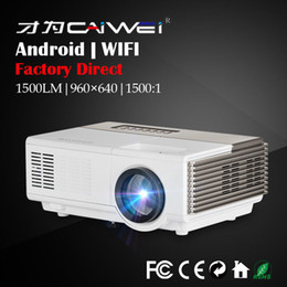 Wholesale Wifi Online - Bulit-in Android Portable Mini LED Projector for Home Theater Movie 1080p HD Wireless Wifi Online Video Game HDMI VGA