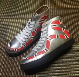 medium close up Australia - (With Box) Top Quality Snake Tiger Head Fashion Brand Men Women Casual Shoes Lace-up Closed Round Toe Sneakers