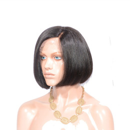 Wholesale Tangle Free Lace Wigs - Elibess Hair Hot sale bob wigs lace front no nits no knots very silky straight virgin human hair lace wig, free shedding&free tangle