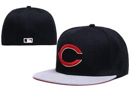 Wholesale Baseball C - Good Quality Cheap Reds Fitted Caps Baseball Cap Embroidered Team C Letter Size Flat Brim Hat Reds Baseball Cap Size