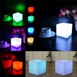 Wholesale Mini Ktv - Square LED Light Portable Glowing In The Dark Table Lamp Discoloration Mini Night Lamps For KTV Pub 6 5yy B