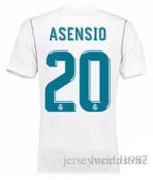 45873e980 1718 Real Madrid TOP Calidad tailandesa Marco Asensio camisetas de fútbol  personalizadas Descuento Camisetas de fútbol baratas BENZEMA RONALDO  Camisetas de ...