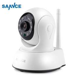 Wholesale Night Vision Wireless Cctv - SANNCE HD 720P Mini Wi-fi Camera Wireless 10ft power cable IP Sucurity CCTV Camera Wifi Network Smart Night Vision Baby Monitor