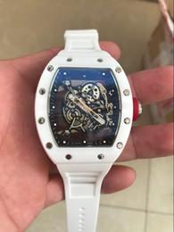 Canada RM055 blanc en caoutchouc ceinture orologio automatique sport en gros Montre de luxe mode hommes montre brnd nouvelles montres en acier inoxydable cheap eyki stainless watches Offre