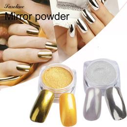 vara de cromo Desconto Glitter Metallic Espelho Em Pó Efeito Holográfico Chrome Em Pó Esponja Vara Espelho Bling Pigmento para Nail Art 6 Cor