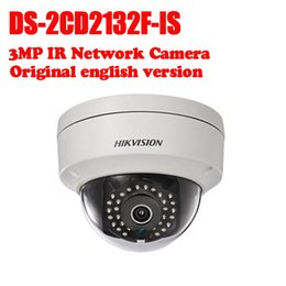 Wholesale mini ir dome camera - Hikvision DS-2CD2132F-IS International version 3MP CCTV dome camera POE, IR, mini IP security camera H.264