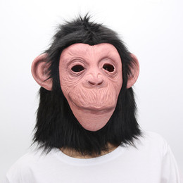 Free Shipping King Kong Gorilla Big Ears Monkey Mask Funny Animal Halloween Masquerade Party Eco Boys Costume Accessories Costumes & Accessories Friendly Latex Full Face Mask Buy One Get One Free