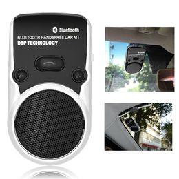 altavoces con energía solar Rebajas 2018 Wireless Bluetooth Car Kit Manos libres altavoz Teléfono de energía solar Altavoz manos libres Car Cargador de coche