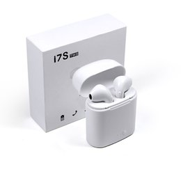 Wholesale X Bluetooth - I7S TWS Bluetooth Headphone with Charger Case Twins Wireless Earbuds Earphones for iPhone X IOS iPhone Android Samsung with Retail Packing