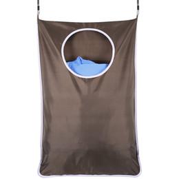 Переработка одежды онлайн-Прачечная корзина над дверью большой емкости грязной одежды хранения портативный прочный ткань Оксфорд рециркулировать мешок